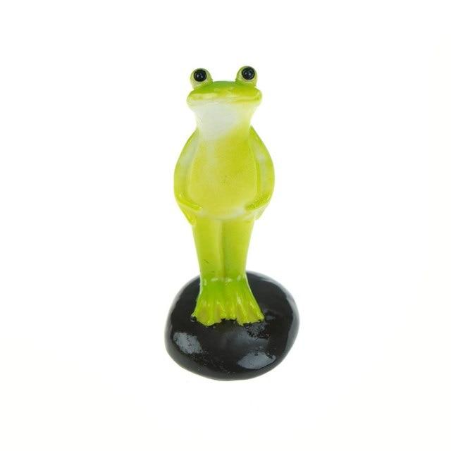 Cute Animal frog home Micro fairy garden gnomes figurines kawaii miniatures/terrarium doll decor 3