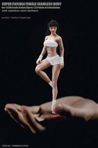 Image 5 - TBLeague 1/12 kadın vücut figürü kafa heykel PHMB2018 T01 güneş/soluk renk aksiyon figürü bebek koleksiyon Model oyuncaklar