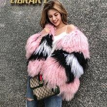 Новинка, натуральная монгольская овечья шуба, женская меховая куртка из овечьей шерсти, меховые жилеты индивидуального размера плюс, F1080