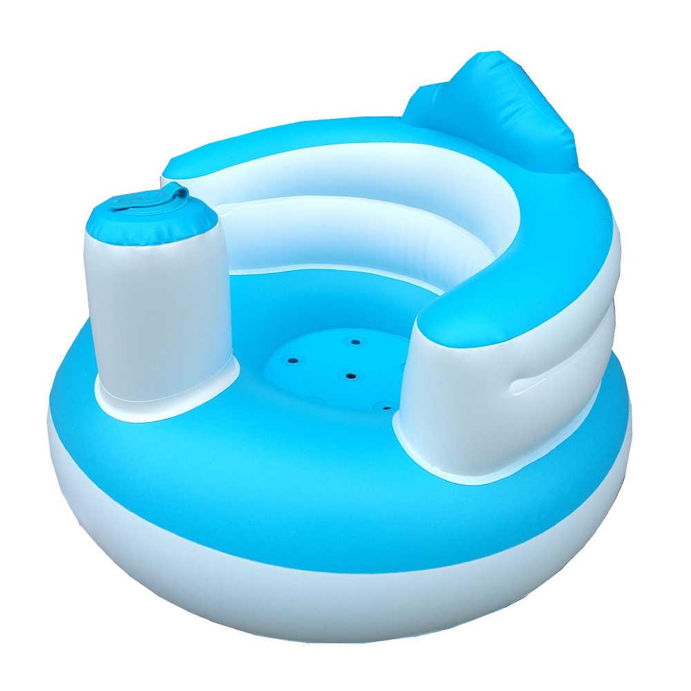 น่ารักเก้าอี้เด็กเป่าลมแบบพกพาเด็กโซฟาเบาะนั่งรถเข็นเด็กสำหรับให้อาหารฝักบัวอาบน้ำด้านบน Qualty