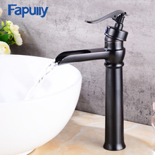 Fapully bathroom taps and mixers single handle oil rubbed bronze black basin faucet