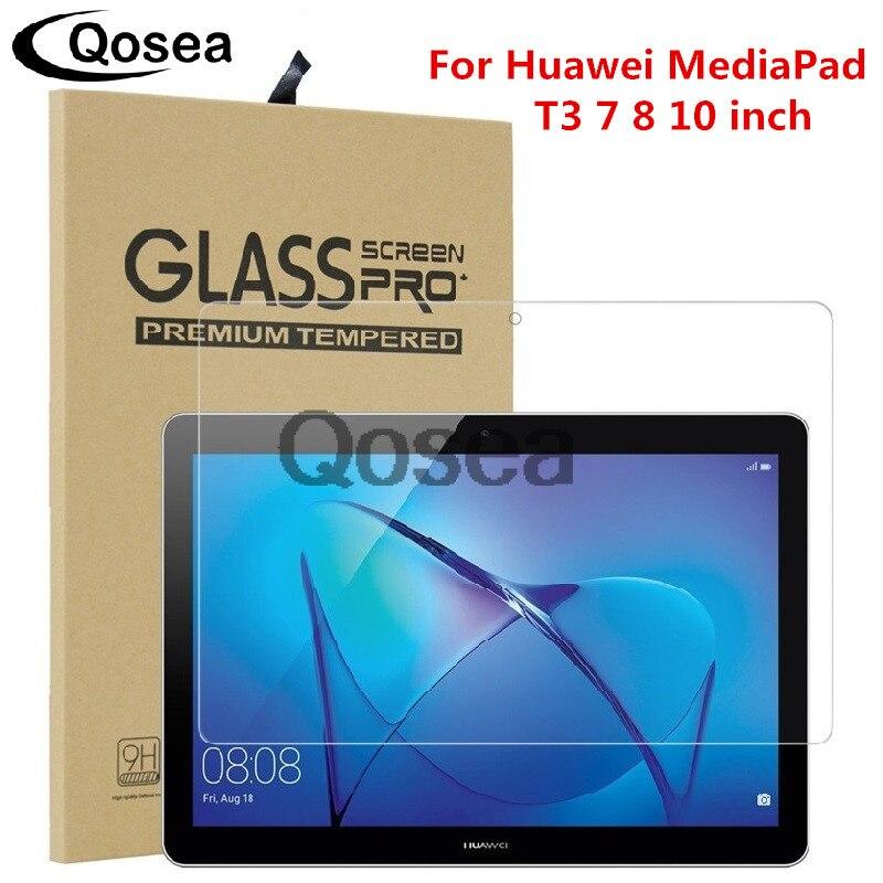Trempé Protecteur D'écran En Verre Pour Huawei MediaPad T3 10 9 H Ultra Clear Pour Huawei MediaPad T3 7 8 10 tablet PC De Protection Film