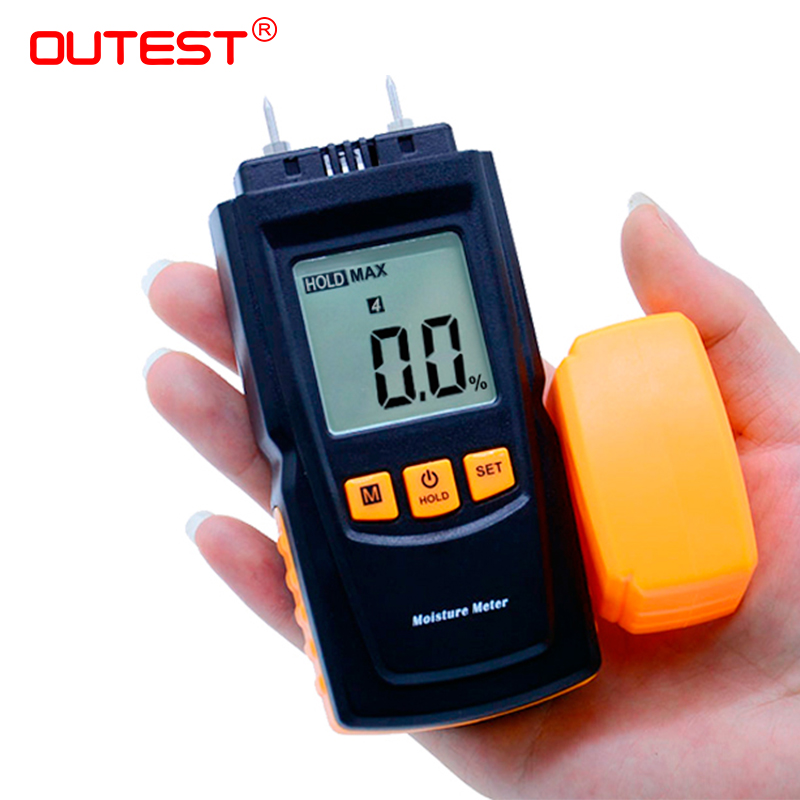 Portable Wood Moisture Meter Analyzer Tool Timber Tester Damp Humidity Detector