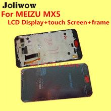 High Quality For- MEIZU MX5 LCD Display+touch Screen+frame+Tools Digitizer Assembly Replacement Accessories Give silicon case