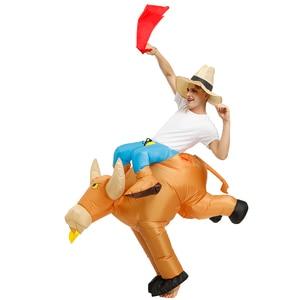 Image 5 - Disfraces Adultos Bambino di Halloween Cosplay Giro un Toro Gonfiabile Costume di Fantasia Costumi per Gli Uomini del Ragazzo Abbigliamento