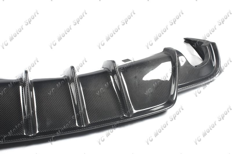 Car Accessories Carbon Fiber YC DESIGN Style Rear Diffuser Fit For 2013-2015 Lexus IS F Sport Sedan Rear Bumper Lower Lip