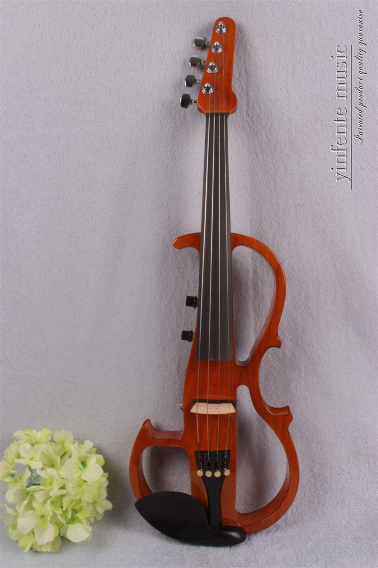 #16806# New 4 string 4/4 Electric violin Solid wood hand add fret electric violin Guitar neck violin 6 string electric violin new 4 4 flame guitar shape solid wood powerful sound6 611