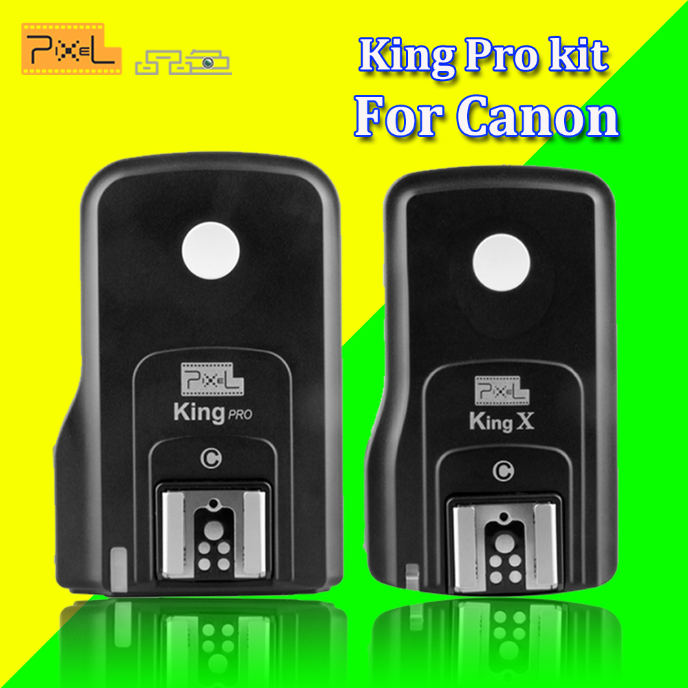 Pixel Wireless Flash Trigger King Pro Flash Remote Control Transceiver Receiver Set for Canon Eos 5D 7D 60D 1100D DSLR Cameras hongdak rc 6 wireless ir remote control for canon eos 5d mark ii eos 7d more 1 x cr2032