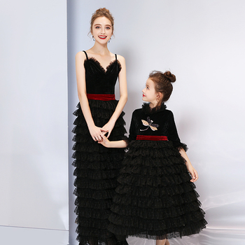 2019 Family Matching Wedding Dress for Mother Daughter Dresses Clothes Mom and me Matching Dress Girls Summer Winter Clothes
