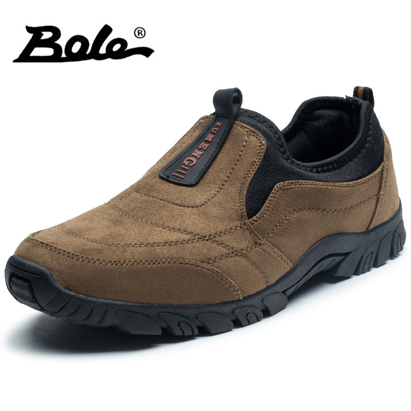 BOLE Men Casual Shoes Fashion High Quality Slip on Round Toe Casual Shoes Patchwork Mesh Casual Shoes Boat Shoes casual casual инсайд
