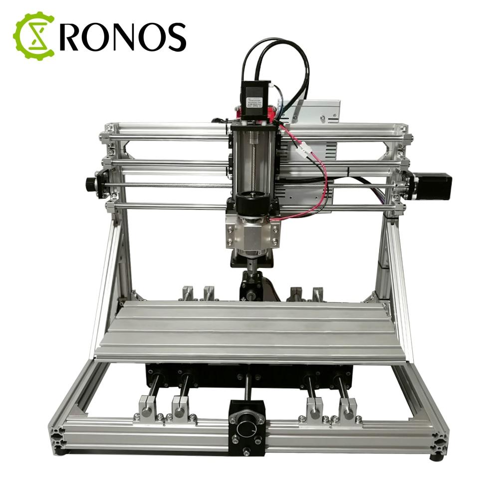 DIY CNC ELF-4018 CNC Engraving Machine Kit 3D Laser Engraving Machine Small Round Engraving Machine Kit Expandable Fourth Axis