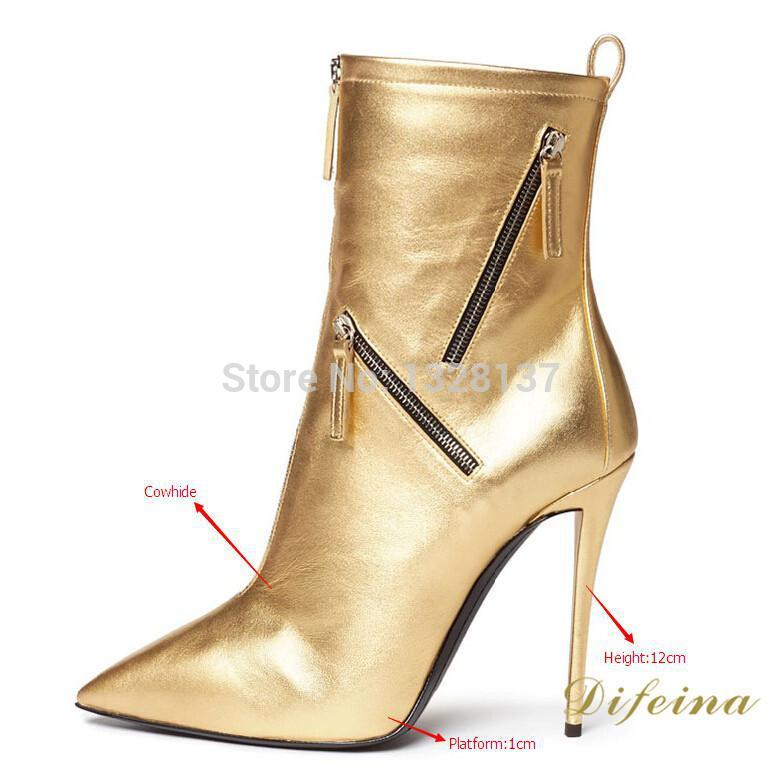 Online Buy Wholesale boots gold heel from China boots gold heel ...