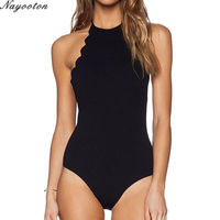 2016 New Europe America A Conservative Gather Swimwear Printing One Piece Swimsuit Multi Band Sexy Halter