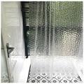 3D полупрозрачные водонепроницаемые занавески для душа PEVA  легко моющиеся занавески для душа  занавески для ванной комнаты с 12 крючками