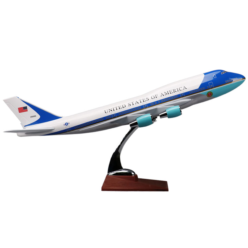 47cm Air United States Of America Airlines Air Force One Boeing B747 Plane Model Aircraft Airways Airplane Model phoenix 11079 airlines b747 8f vq bvc silkway 1 400 commercial jetliners plane model hobby