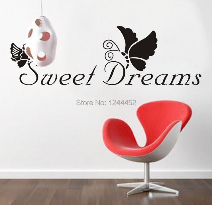 home decor diy removable family sweet dreams wall stickers vinyl