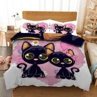 Personality customization A pet cat Bedding Duvet Cover Set Pillowcase Microfiber Soft Comforter Bedroom Single Queen King