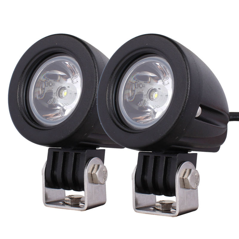 2pcs 10W with Cree XM-L LED Work Light Off-road Lamp Spot/Flood Beam,Truck MOTO Waterproof Fog ATV SUV Boat 12V 24V jack