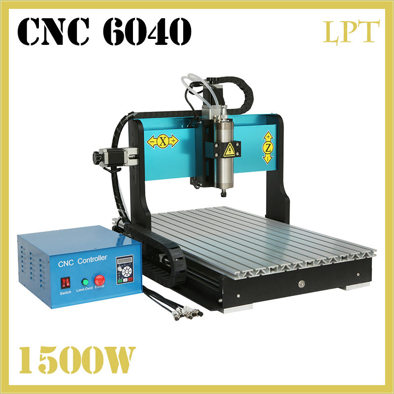 JFT New Technology CNC Router  1500W 3 Axis Water Cooled Engraver Drilling Machine with Parallel Port 6040 cnc 5axis a aixs rotary axis t chuck type for cnc router cnc milling machine best quality