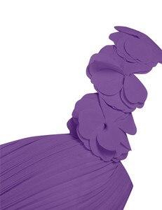 Image 5 - Women Adults Long Bridesmaid Dresses vestidos de fiesta One Shoulder Floor Length Chiffon Long Bridesmaid Gowns Beading Dresses