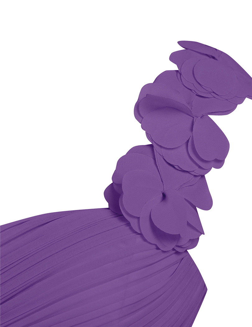 Image 5 - 女性の大人ロング花嫁介添人ドレス vestidos デ · フィエスタワンショルダー床の長さシフォン花嫁介添人ドレスビーズドレスbridesmaid dresseslong bridesmaid gownbridesmaid dresses one shoulder -