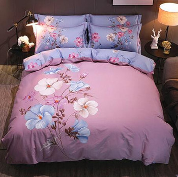 Pure Cotton Four-piece Full Cotton Bed Sheet and Bedding Set New Chinese Twin Bedding