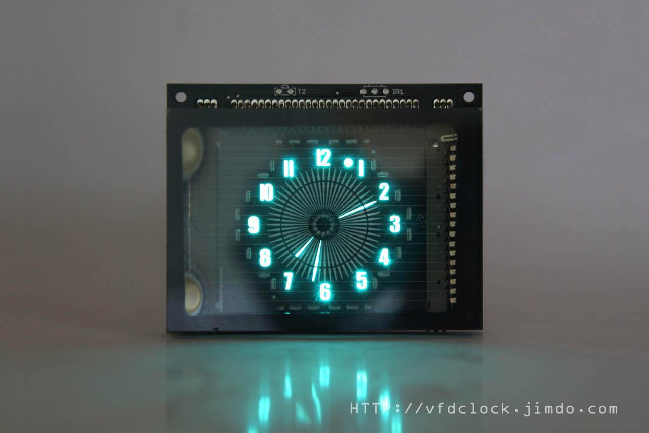 USB Alimenté BEP VFD48 Disque Pointeur Horloge V1.5-Fluorescent Électronique Horloge-Pas de Coquille