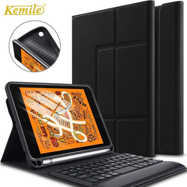 Pour iPad 7th génération 10.2 étui support de clavier couverture W porte-crayons pour Apple iPad 7th 10.2 2019 étui clavier sans fil A2197