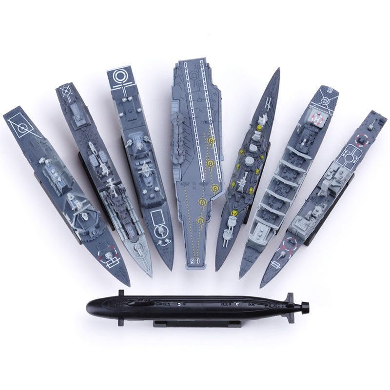 8Set Assemble Puzzle Model <font><b>Building</b></font> Nuclear Submarine Simulation Boat Cruiser Destroyer Nuclear Submarine Military Toys for Boy