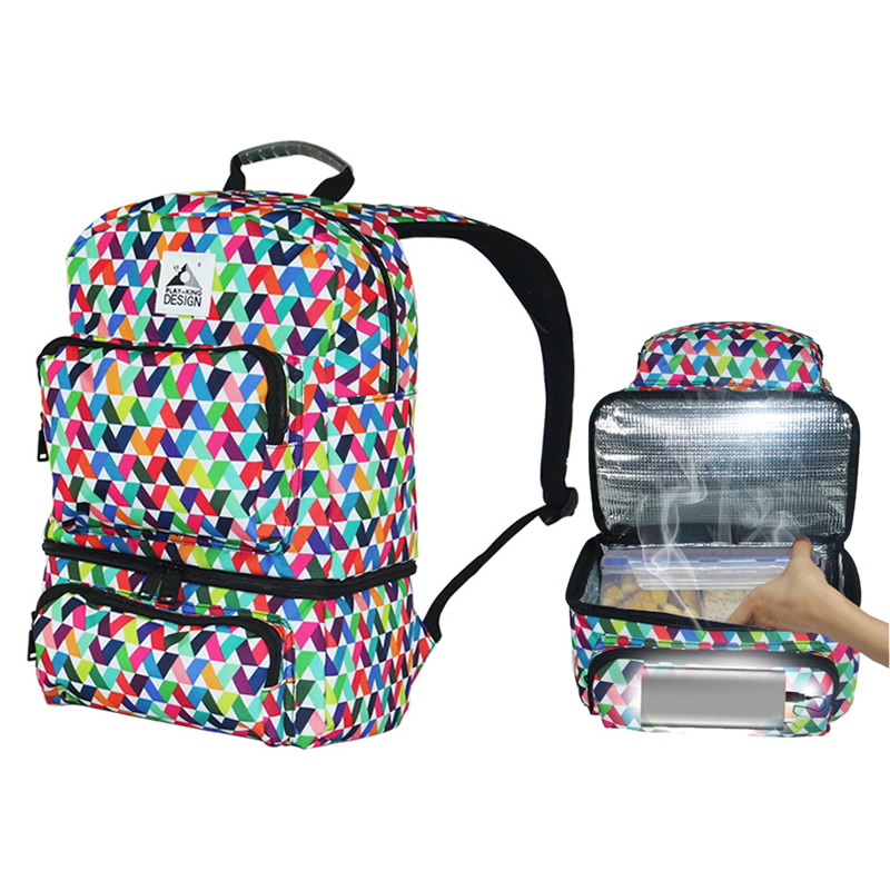 USB Heating 20L Picnic Bags Aluminum Foil Cooler Backpack Thermal Insulated Ice Bag lunch Bag Box