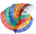 High quality fashion 16 Strips Reflective Rim Stripe Tape Car hub paste Wheel Sticker  Bike Motorcycle 16 17 18inch car styling