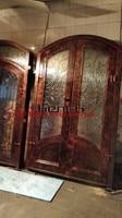 Custom design 72 x 98 custome design double wrought iron doors iron front doors