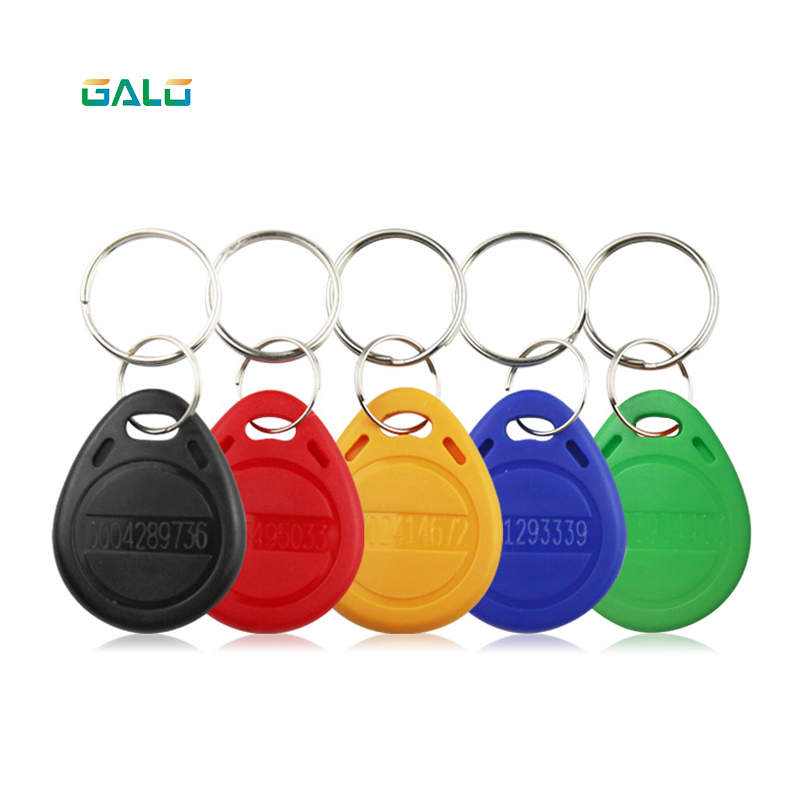 100Pcs/lot 125khz RFID Key Token Tags Keychain ID Card Read Only Access Control RFID Card Access Control Token Card