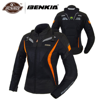 975b1a90 BENKIA летняя куртка для мотоцикла женская мотоциклетная куртка дышащая  гоночная езда мото Куртка Jaqueta Motoqueiro одежда