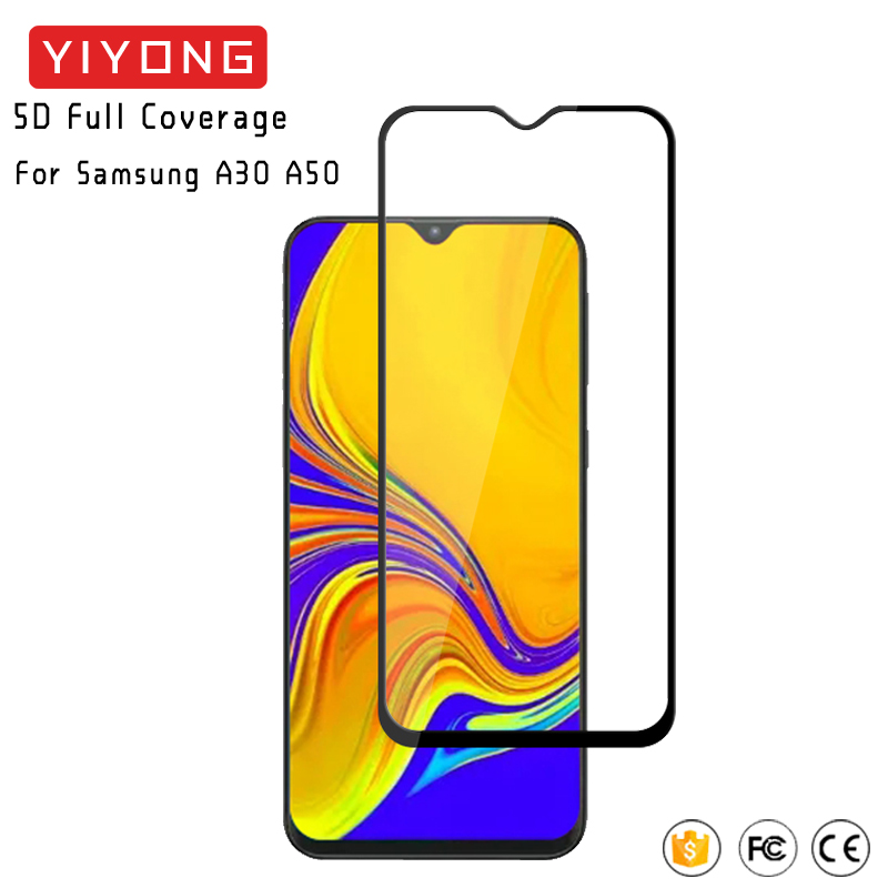 YIYONG 5D Full Cover <font><b>Glass</b></font> For <font><b>Samsung</b></font> Galaxy A10 A20 E A30 A40 <font><b>A50</b></font> Tempered <font><b>Glass</b></font> Screen Protector For <font><b>Samsung</b></font> A60 A70 A80 A90 image