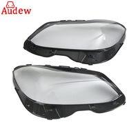 1Pair Car Front Headlight Headlamp Lens Plastic Covers Clear Lens For Mercedes Benz E W212 Facelift