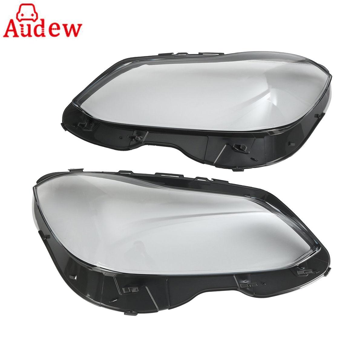 1Pair Car Front Headlight Headlamp Lens Plastic Covers Clear Lens For Mercedes-Benz E W212 Facelift QT