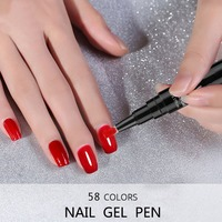 Один шаг лак для ногтей Набор для ногтей 3 в 1 лак для ногтей ручка блеск разноцветный Гель лак для ногтей ногти с uv фильтром оптовая продажа
