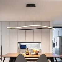 New black/white modern LED Pendant Lights living room dining room aluminum lamp body LED Pendant Lamps home design AC110V 220V