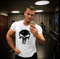 New Marvel Punisher Mens Short Sleeve T-shirt 3D Printed Tee Fitness Crossfit Sportwear Compression Top