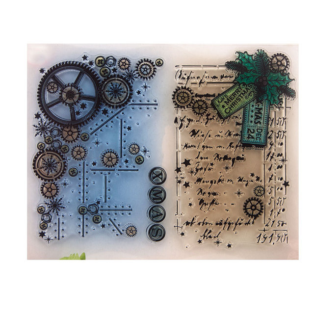 Gear DIY Silicone Clear Stamp Cling Seal Scrapbook Embossing Album Decor Craft