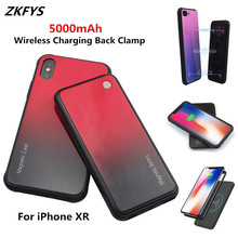ZKFYS 5000mAh Large Capacity Portable Power Bank Case For iPhone XR Wireless Magnetic Ultra Thin Fast Charger Battery Case