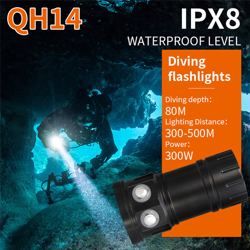 Outdoor Night Super Bright Cycling Bicycle Bike Light LED Diving Flashlight Photography Light Underwater IPX8 Waterproof Torch L pro 4 led flashlight waterproof photography light torch portable underwater flashlight for outdoor diving camping