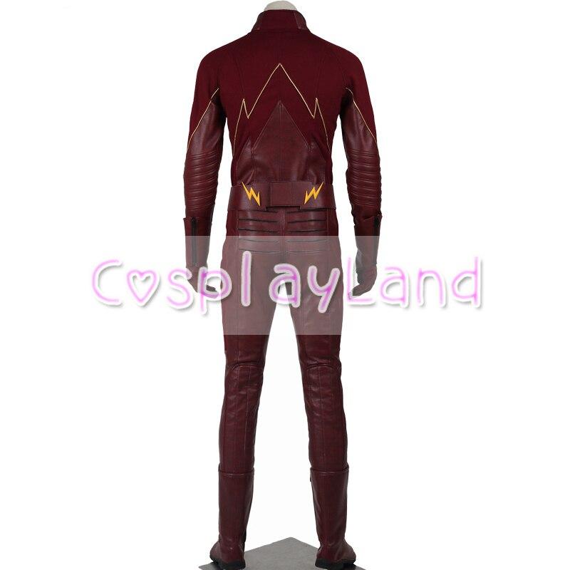 The Flash Season 1 Barry Allen Män Cosplay Kostym Superhero Med Mask - Maskeradkläder och utklädnad - Foto 5