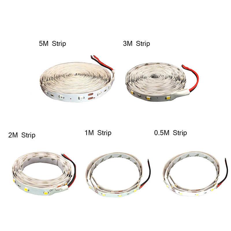 3528SMD 60 LED/M Lampu LED Strip DC12V Fleksibel Pita LED Tidak Tahan Air LED RGB Strip 5 M/ roll LED String 12 V Power Supply