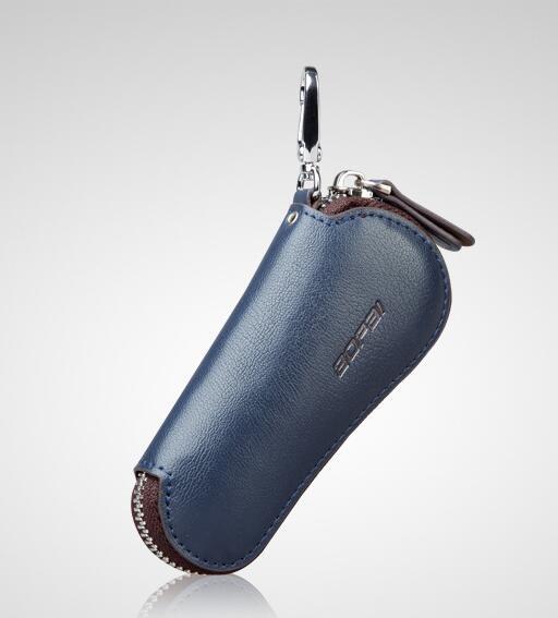 Carteras de Cuero genuino Llave Del Coche Titular de La Clave Organizador Ama de Llaves Llaves Llavero Cubre Clave Zipper Case Bolsa Bolsa Monedero