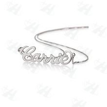 Custom Name Pendant Necklace Silver Monogram Initial Necklace Fashion Necklaces for Women Fashion Jewelry