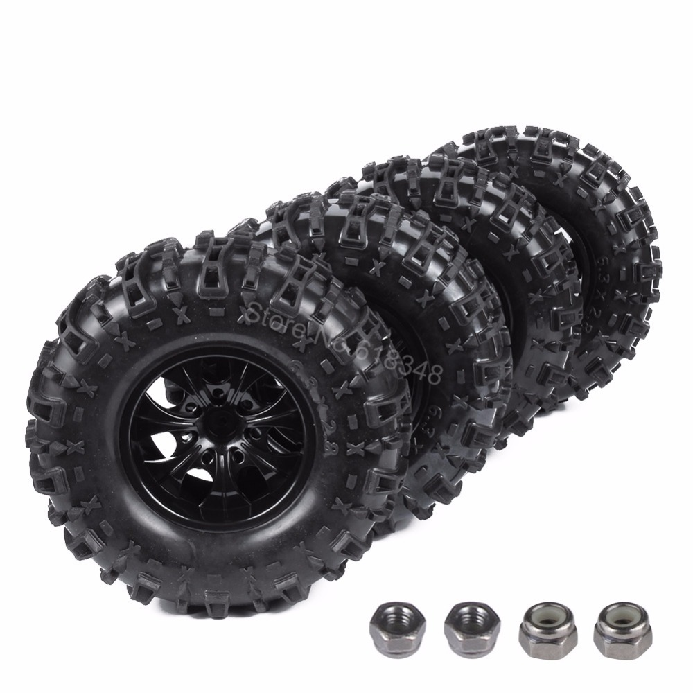 4Pcs 155mm RC Tires Wheel Rims Foam Inserts For 1/10 Monster Truck Tyres HSP HPI Traxxas Himoto Redcat Kyosho Tamiya Racing Losi aluminum 7 spoke wheel rim w o tire for rc car tyre1 10 monster truck big foot truggy hsp axial himoto hpi traxxas cnc drifting