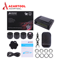 Acartool TPMS LCD Display Car Wireless Tire Pressure Monitoring Alarm System 4 Sensors Built-in Solar Battery free shipping