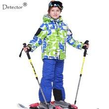 FREIES VERSCHIFFEN ski jacket + pant schneeanzug pelzbesatz-20 GRAD skianzug kinder winter kleidung set für jungen